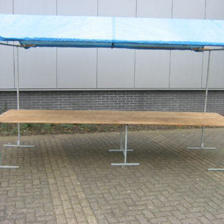 Marktkraam 400 x 115 cm blauw zeil/dak