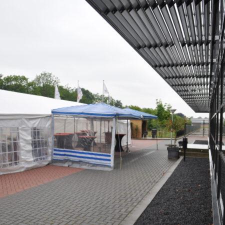 Zijzeil mammoetparasol 3 meter transparant