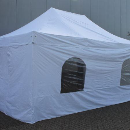 Tent wit harmonica 6 x 4 meter compleet