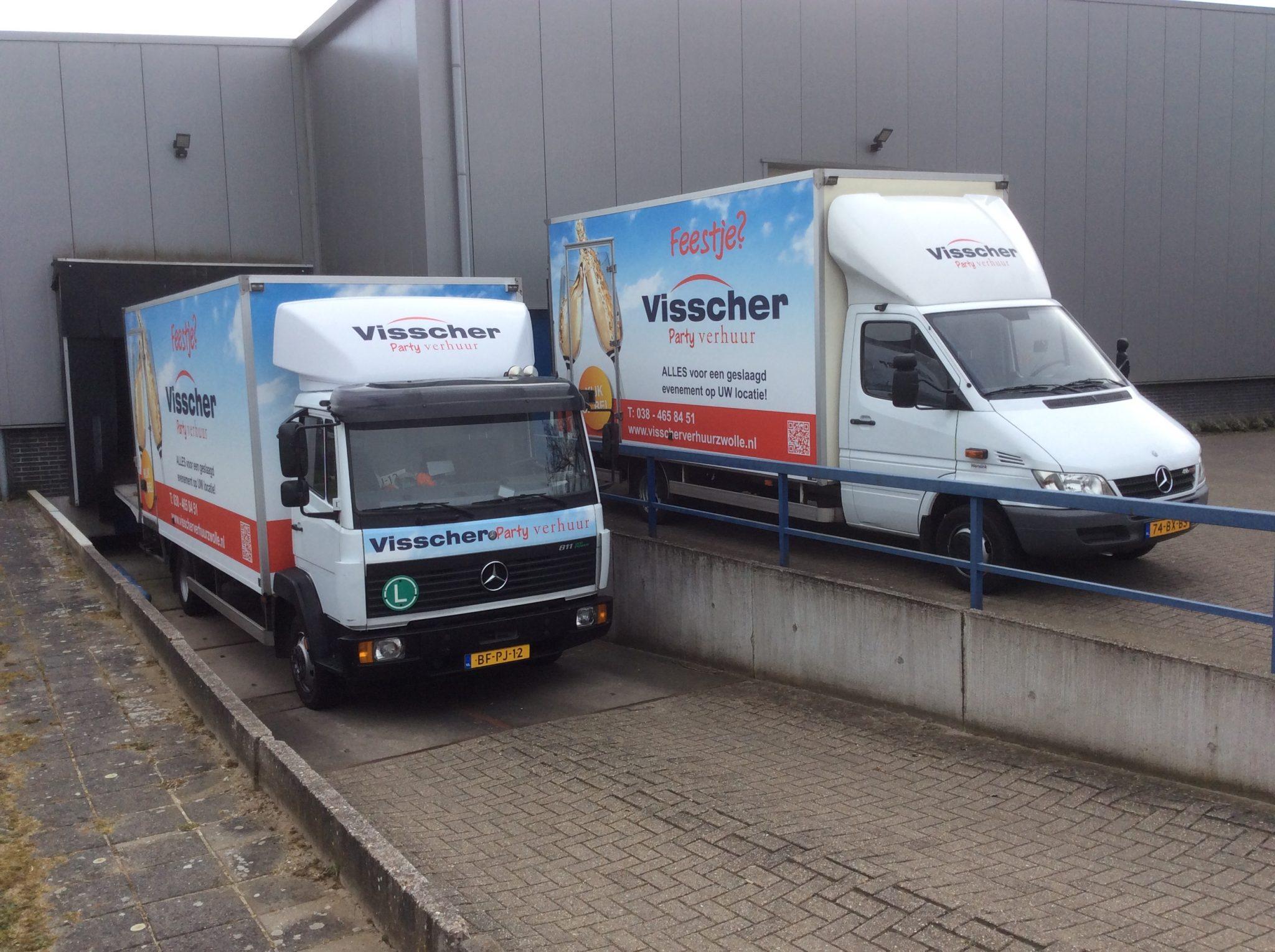 Eigen vervoersmiddelen van Visscher Verhuur Zwolle