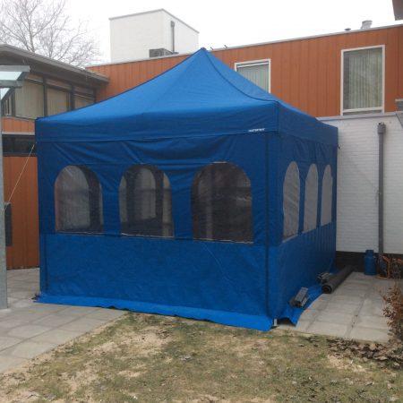 Tent  Master Blauw harmonica 4 x 4 meter compleet
