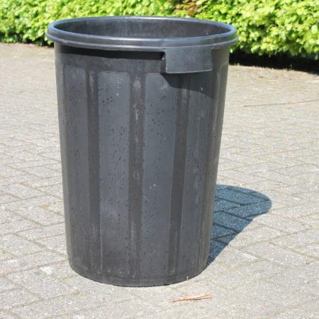 Afvalcontainer zwart 90 liter