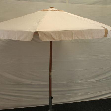 Parasol gebr wit 300 cm doorsnede