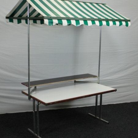 Partykraam 150 x 85 cm groen-wit dak