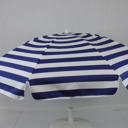 Parasol blauw-wit gestreept doek