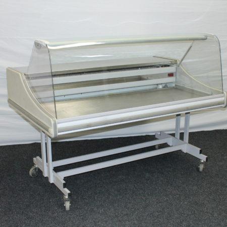 Koelvitrine verrijdbaar 150 x 60 cm