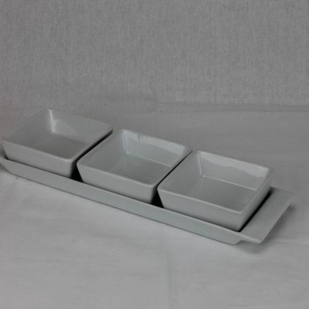 Tafelsetje met 3 bakjes
