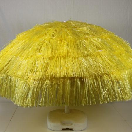 Parasol geel raffia 180 cm