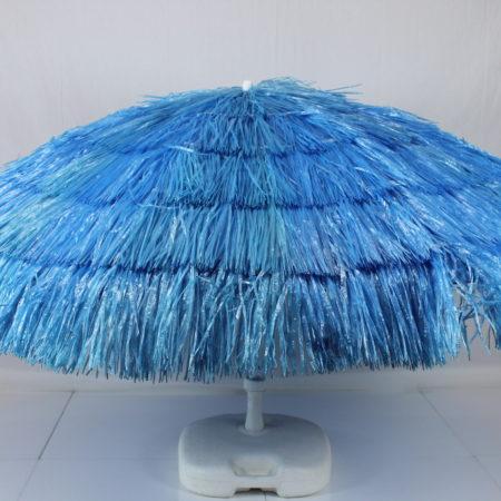 Parasol blauw raffia 180 cm
