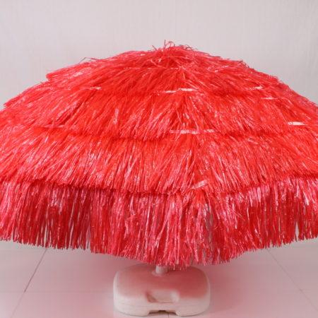 Parasol rood raffia 180 cm