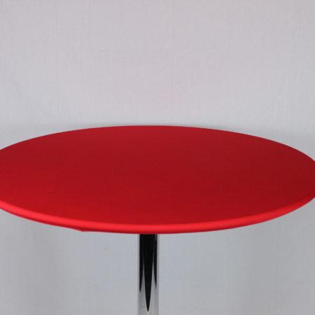 Statafel topje rood
