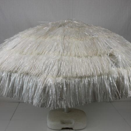 Parasol wit raffia 180 cm