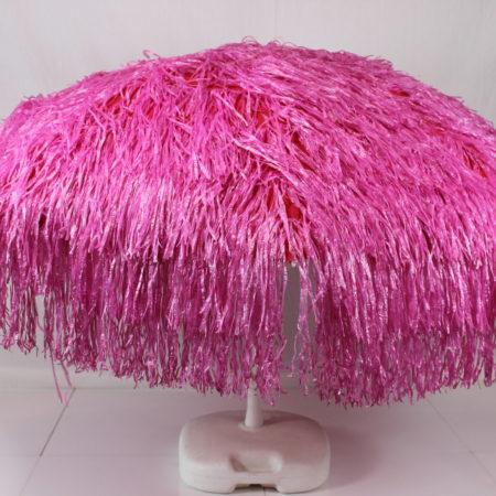 Parasol paars raffia 180 cm