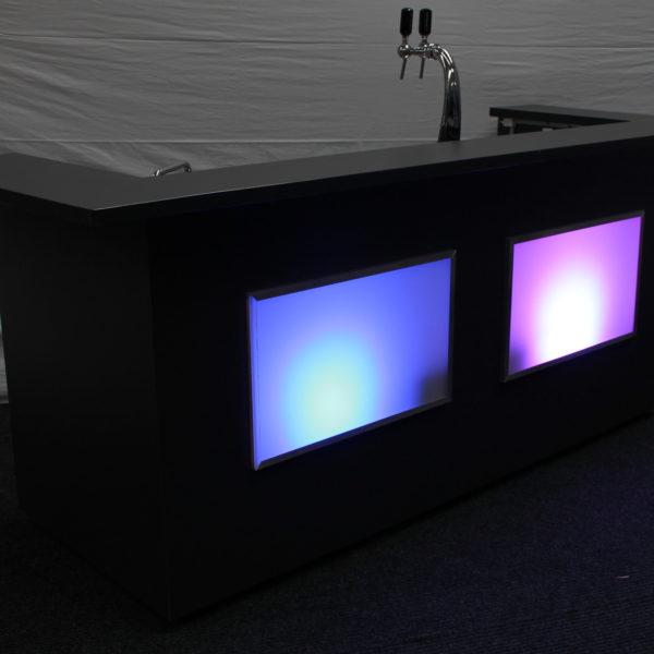 Bar antraciet met LED verlichting - Visscher Verhuur Zwolle