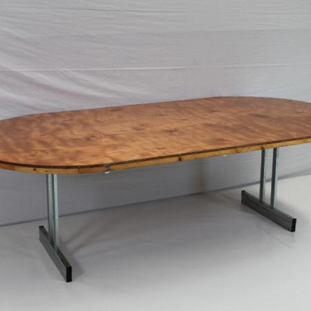 Klaptafel ovaal 245 x 122 cm