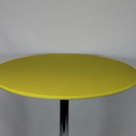 Statafel topje geel