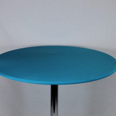 Statafel topje licht blauw