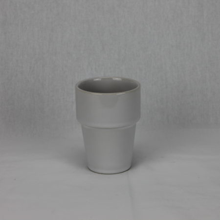 Melkbeker porcelein wit