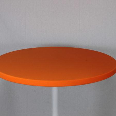 Statafel topje oranje