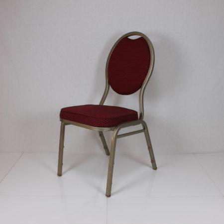 Gestoffeerde stoel bordo