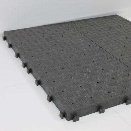 Vloertegel antislib  zwart kunststof  per M2