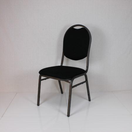 Gestoffeerde stoel zwart