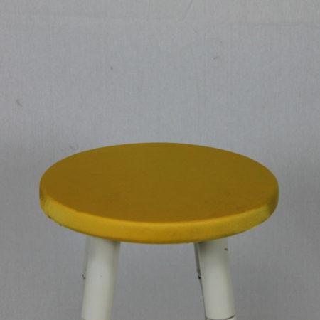 Barkruk topje geel
