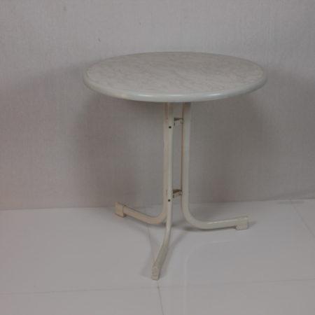 Terrastafel rond 70 cm wit