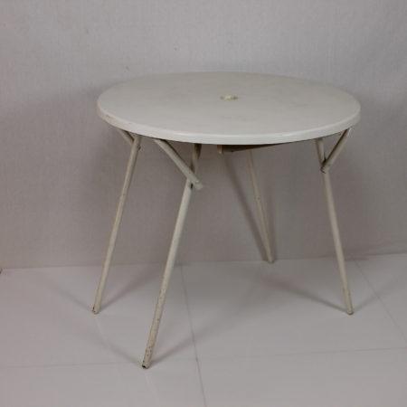 Terrastafel rond 80 cm wit