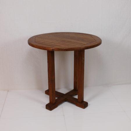 Terrastafel rond 80 cm teak