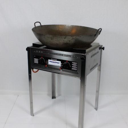 Barbecue met wok pan 70 cm doorsnede