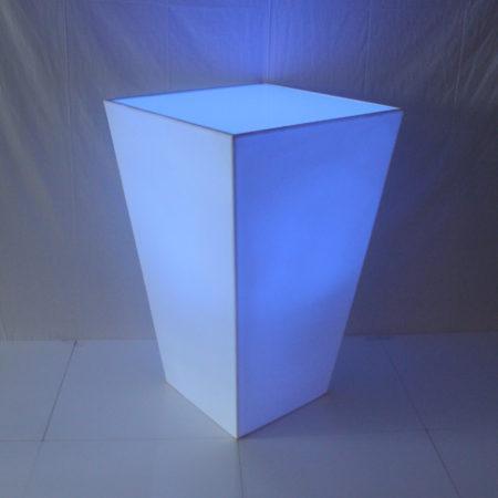 Statafel conic wit met LED verlichting
