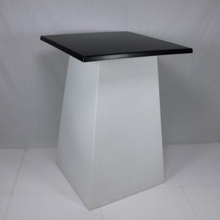 Statafel conic wit blad zwart 80 x 80 cm