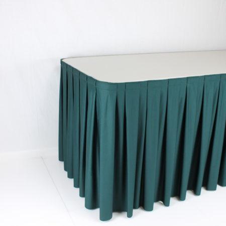 Tafelrok groen 4 meter lang 70 cm hoog