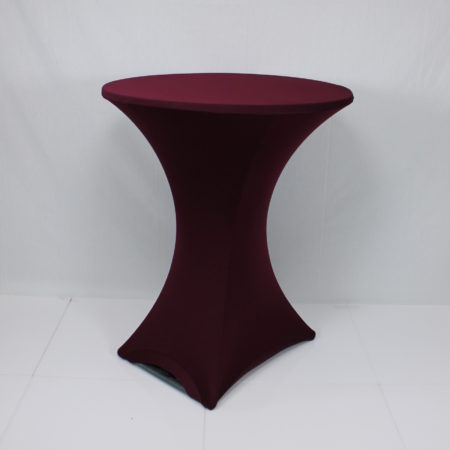 Statafel stretch donker rood/bordo
